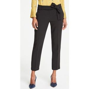 NWT Ann Taylor The Ankle Pant with Tie Waist